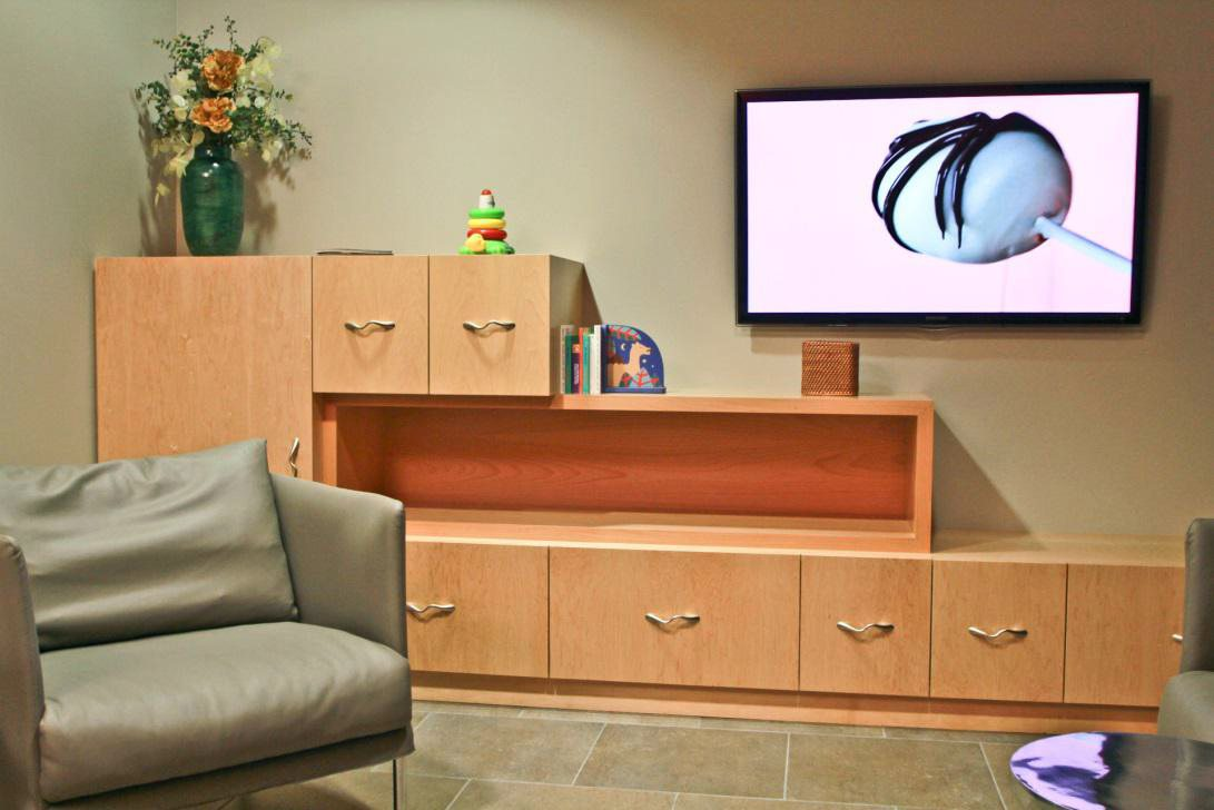 Commercial Audio Visual Systems - HD Display with wall-mounted controller