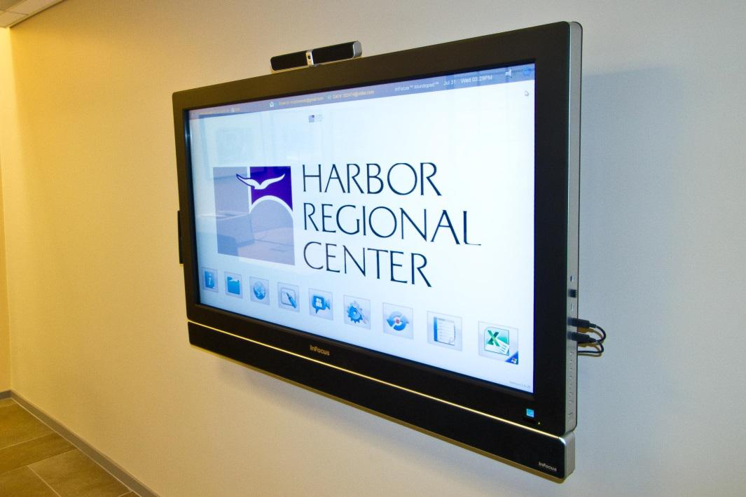 Commercial Audio Visual System - Infocus Mondopad in Conference Room with Remote Display installed by Gridworks