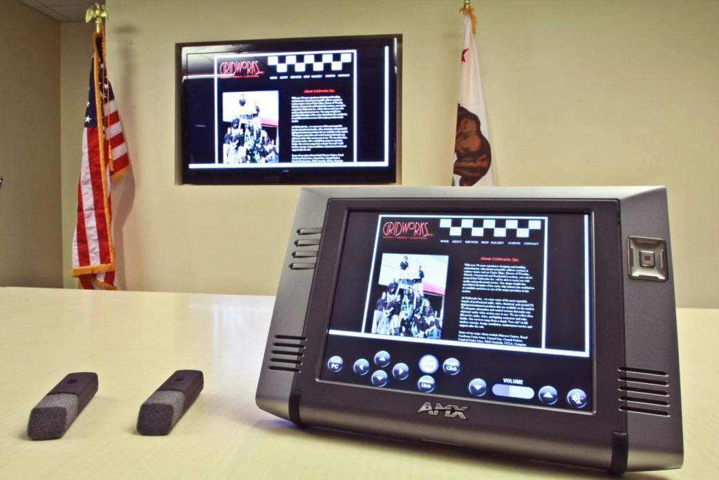 Commercial Audio Visual System - Interactive Central Controller with Touchscreen Display installed by Gridworks