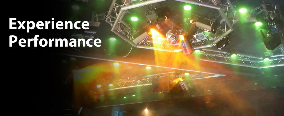 Commercial lighting equipment for performances, stages, lounges and dance floors.